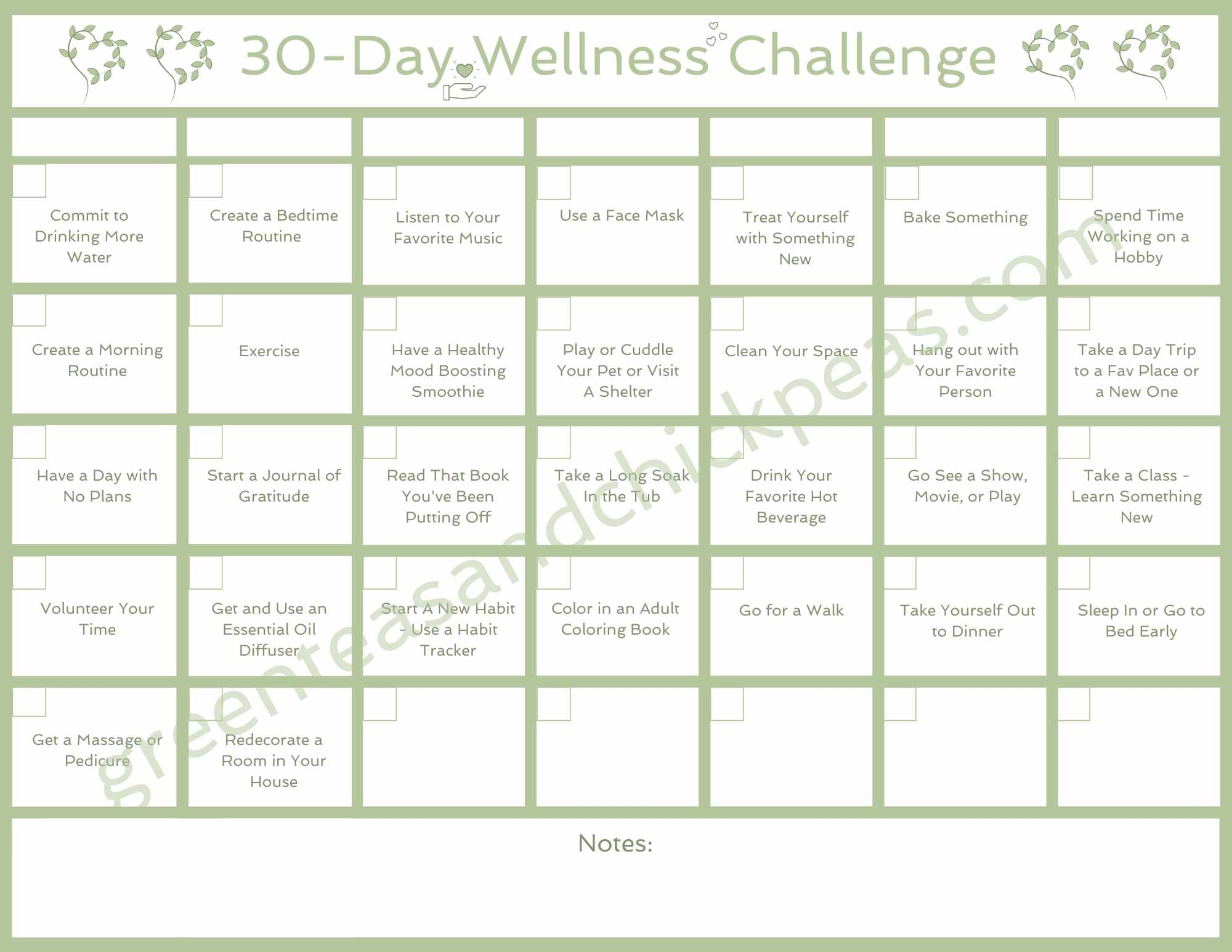 30 Day Wellness Challenge - When You're So Done