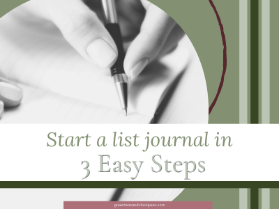 Start a List Journal in 3 Easy Steps