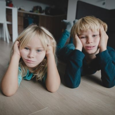 kids stuck at home