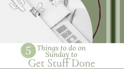 5 Things to do on Sunday