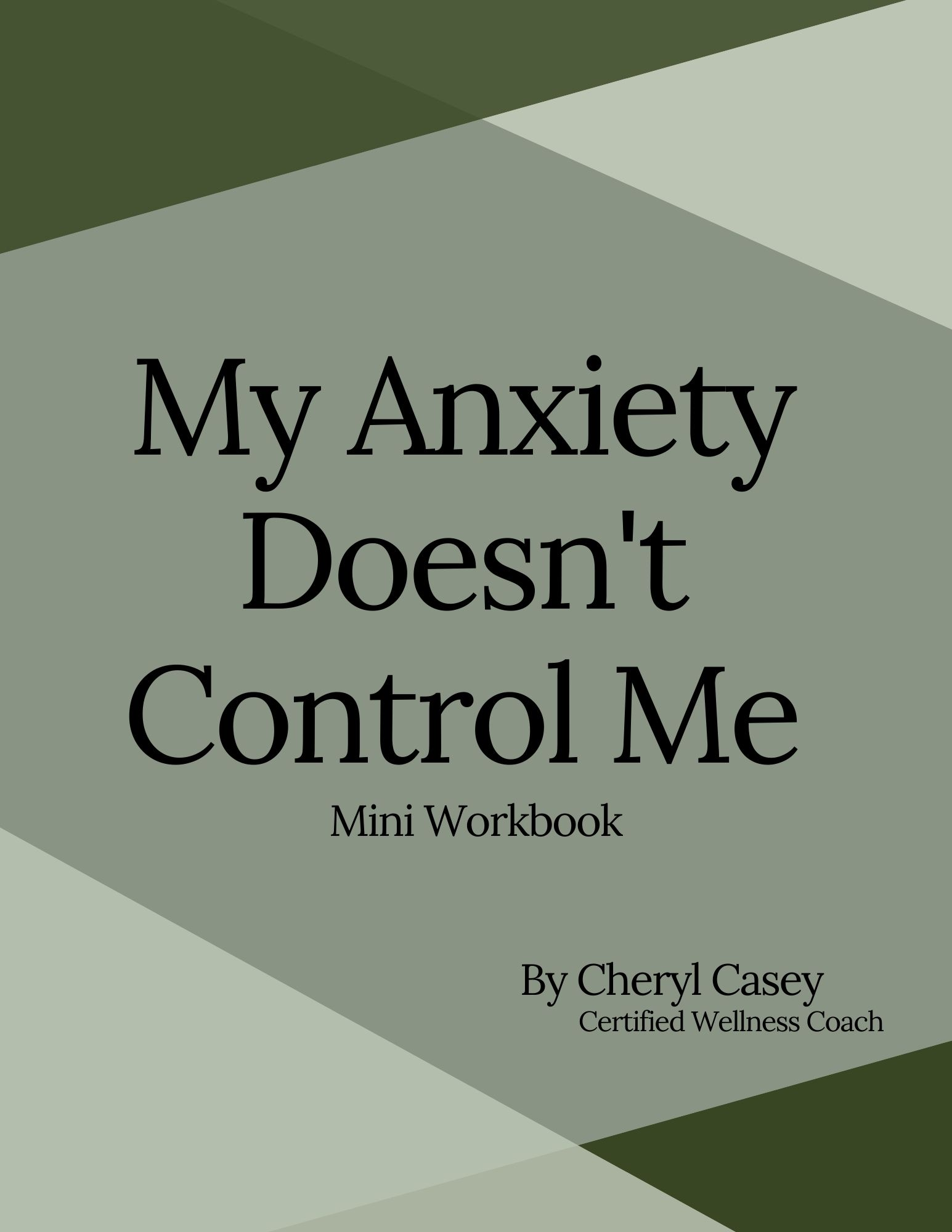 My Anxiety Doesn't Control Me - Mini Workbook